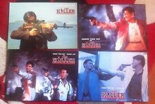 THE KILLER - FOH LOBBY CARDS x4 John Woo Chow Yun Fat