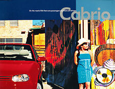 2002 VW Volkswagen Cabrio 22-page Original Car Brochure Catalog - Convertible