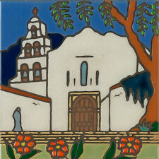 Handpainted Ceramic Tile San Diego Mission/painting/backsplash/installation