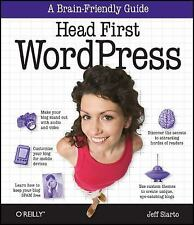 Head First WordPress by Jeff Siarto (2010, Paperback)