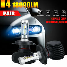 2x PHILIPS H4 180W 18000LM CSP LED Headlight Kit Low Beam Bulbs High Power 6500K