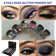 6 NEW Cosmetics Eye shadow Color Makeup PRO GLITTER Eyeshadow PALETTE