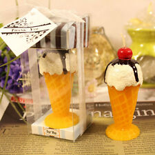 Perfect Moment Gift 7cm Tasty Ice Cream Yellow Candle New in Box
