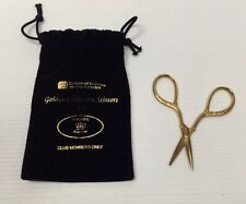 "Singer Golden Collectors Scissors 3 3/4"" Germany House Of Fabrics Club Members"