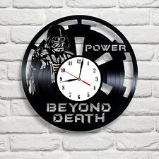 Darth Vader Skull SW-** design vinyl record clock Shipping after 2 of March !