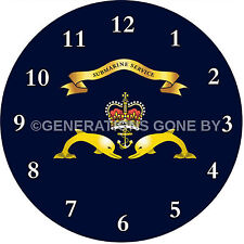 SUBMARINE SERVICE GLASS WALL CLOCK