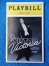 Victor Victoria - Marquis Playbill w/Ticket - February 8th, 1996 - Julie Andrews
