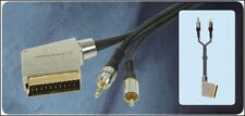 Switched Scart to 3.5mm Stereo Jack & RCA Phono 107.855  AV Lead