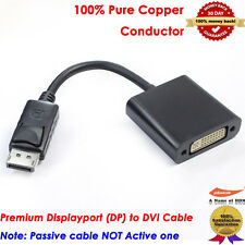 Display Port (DP) to DVI Video Adapter Converter Male to Female,100% Pure Copper