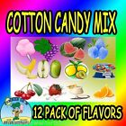 12 pack COTTON CANDY mix w/ SUGAR FLAVORING FLOSSINE FLAVORED FLOSS *Concession
