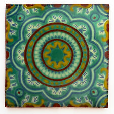 Fairly Traded Handmade Ceramic Mexican Talavera Tile - Bernicia (T12859-25)
