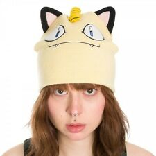 BIOWORLD POKEMON MEOWTH BIG FACE BEANIE BRAND NEW WITH TAGS - HATS SNOW KIDS