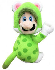 Super Mario Luigi Cat Version with Magnetic Hands Peluche Plush 19 cm.