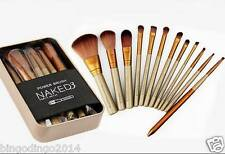 12 Pcs Naked3 Urban Decay Professional Makeup Brush Set with Box