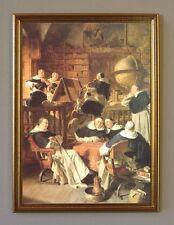 Grützner Konzert im Kloster um 1897 Faksimile von Ölgemälde 5 im Goldrahmen