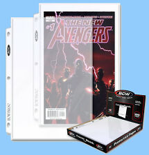BCW: 3-Ring Pages: COMIC Size: 7 x 11 Current-Silver 200 Pages (2 Boxes 100 ea.)