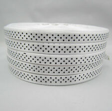 Bulk 10 Yards 3/8 9mm Polka Dot Ribbon Satin for Craft Supplies roll White ZS1
