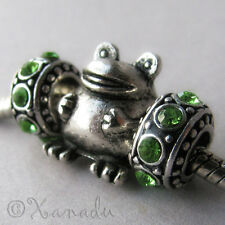 Chubby Frog European Bead With Birthstones For European Charm Bracelet Chains