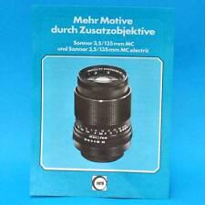 Sonnar 3,5 135 mm MC electric 1978 | Werbezettel Werbung DDR DEWAG Berlin B
