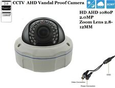 CCTV Sony 1/3 AHD 2.0MP Full 1080P IR-Cut Zoom Lens 2.8-12mm Vandal Proof Camera