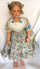 "1992 Limited Edition Hildegard Gunzel 28"" Vinyl & Cloth Doll ""DAPHNE"" IOB w/COA"