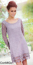 Goose Island goITT375 - Flattering lace dress - Dusky Pink - Made in Italy