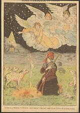 NOEL FRANCAIS ADORATION ENFANT DIVIN CRECHE BERGERE MOUTONS BREGER IMAGE 1913