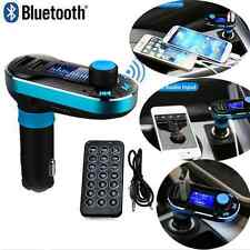 Blue Car Bluetooth FM Transmitter MP3 Player USB Charger for Android/Apple CAD