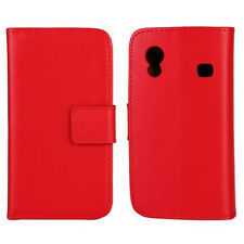 NEW RED LUXURY GENUINE LEATHER CASE for Samsung Galaxy Ace GT-S5830/GT-S5830i