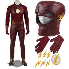 Original The Flash 2 Barry Allen Cosplay Costume Full Suit Customized Halloween