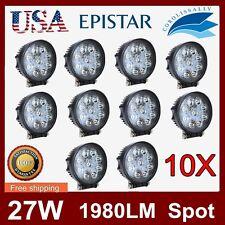 10X 27W LED Work Light Spot beam Offroad Driving boat 4x4 suv jeep fog Lamp CORO