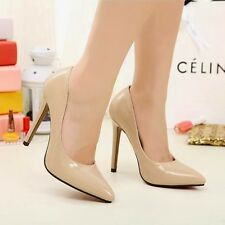 Women High Heel Stiletto Pumps Pointed ToeShiny Office Lady Shoes 1nP US7/EU37.5