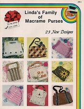 Craft Books: #FP1 Linda's Family of Macrame Purses - 23 Patterns