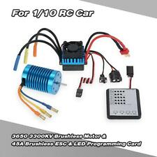 3650 3300KV/4P moteur Brushless &45A ESC &LED programmation carte Combo Set Y7H0