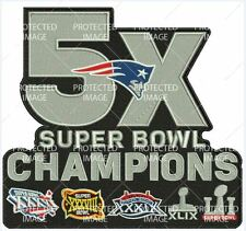 NEW ENGLAND PATRIOTS 5X SUPER BOWL CHAMPIONS SUPERBOWL 51 XLARGE JACKET PATCH