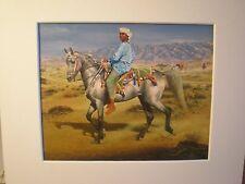 """""""Omani Boy on his Arab Stallion"""" by Susan Crawford Horse print"""