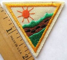 Girl Scout 1989-98 Brownie OUTDOOR ADVENTURER TRY-IT Hiking Camping Badge Patch