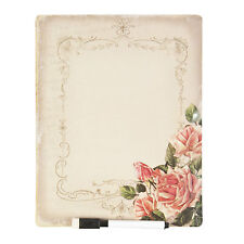 Clayre fed memo Board pinnwand de cocina Board 25*20 cm de color rosa