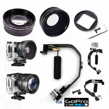 FISHEYE MACRO LENS +  2X ZOOM LENS + VIDEO STABILIZER SYSTEM FOR GOPRO HERO
