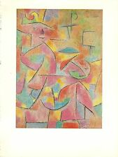 "1967 Vintage PAUL KLEE ""CHILD AND AUNT"" GORGEOUS AUNTY COLOR offset Lithograph"