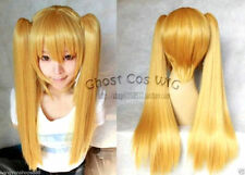 New Fashion lolita Long Milk Gold Blonde Cosplay Wig With Two Clip On Ponytails
