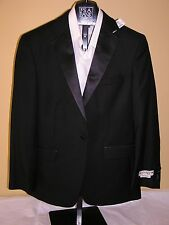 $500 New Jos A Bank 1905 Tailored fit Tuxedo Separate solid black Jacket 46 L