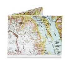 Dynomighty EXPLORER MAP bifold MIGHTY WALLET made of tyvek DY-502 alaska glacier