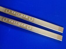 Triumph Spitfire door sills stainless steel Etched Logo Inc Fixings