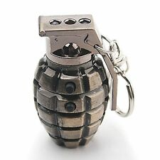 grenade laser flashlight keychain bright red laser, LED flashlight looks real