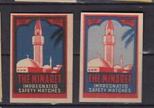 Ancienne étiquette allumettes Italie   The Minaret