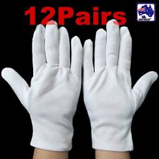 12Pairs/Lot Thick Nylon Glove Working Protective Gear Gloves White  TGLOV48X12