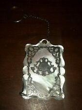 Mother of Pearl Dance Card - Carnet de Val Sterling Overlay 19th Century