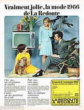 PUBLICITE ADVERTISING 075  1966 LA REDOUTE à ROUBAIX commande mode sur catalogue