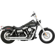 Vance & Hines Chrome Big Shots Staggered Exhaust for '12-'16 Harley Dyna